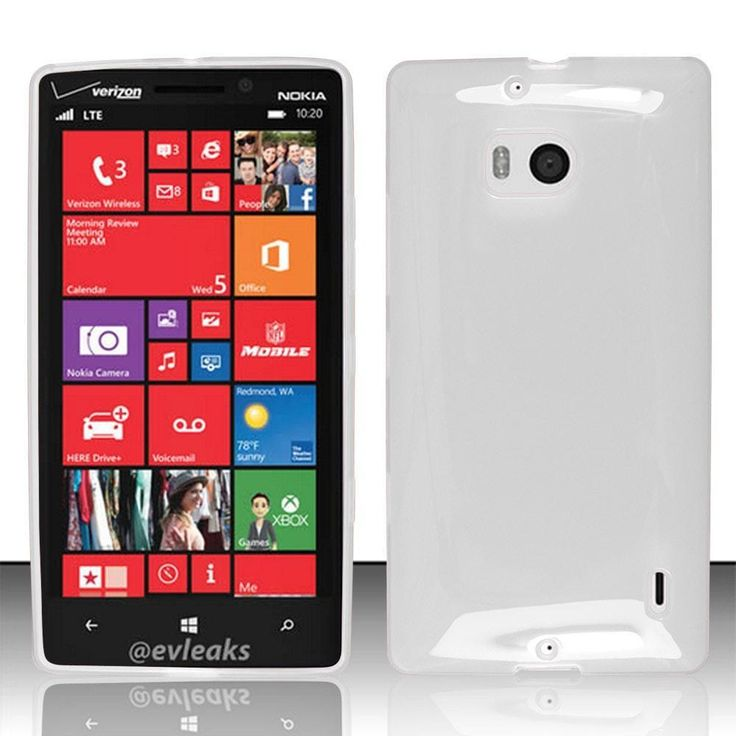 Zizo Solid Skin Slim-Fit TPU Case for Nokia Lumia 929 - Clear