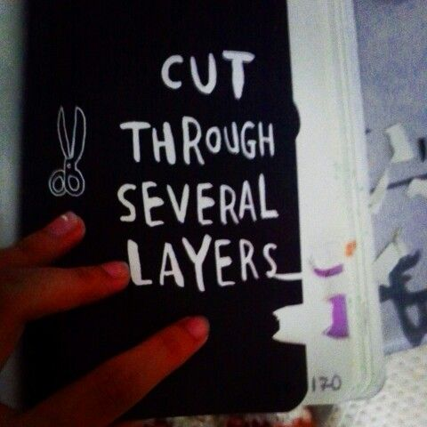 Wreck This Journal : Cut through several layers 2