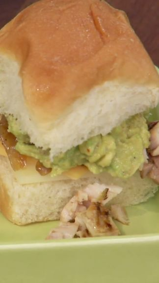 ... puts together kid-friendly Grilled Chicken and Avocado Bacon Sliders