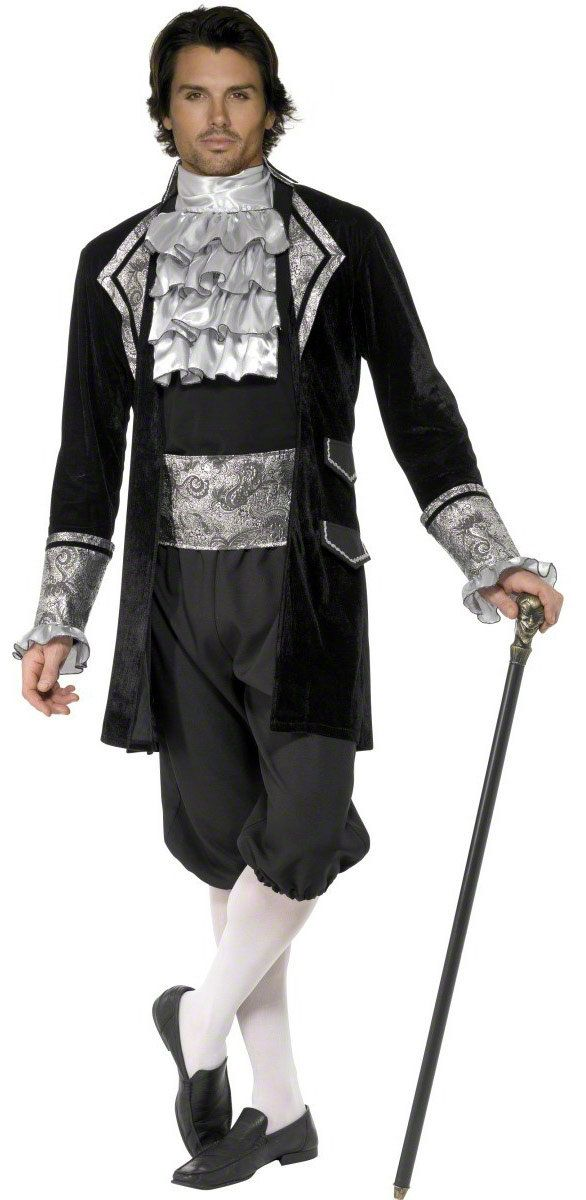 dress for your next party or enjoy halloween fun as the mens french baroque vampire adult costume