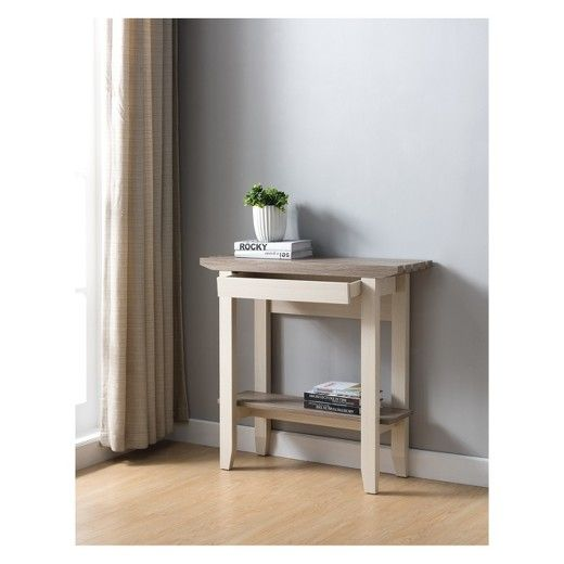 Parish Transitional Console Table Light Oak - HOMES: Inside + Out at Target. Affiliate link.