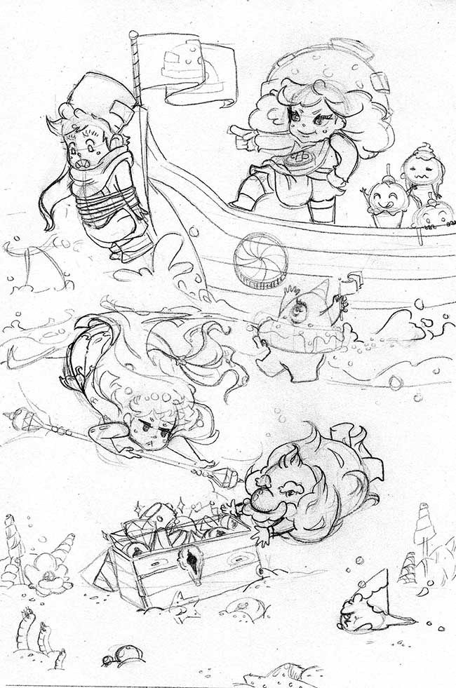 O'er Yonder - pencil process