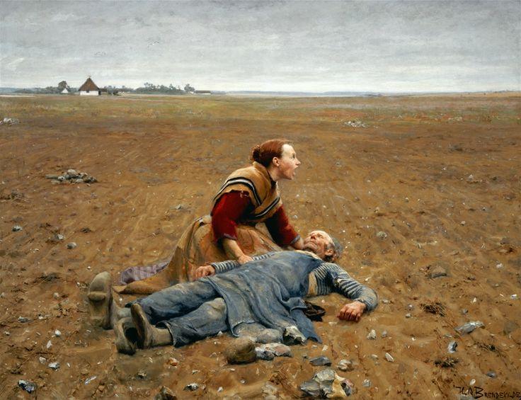 Brendekilde, Hans Anderson (b,1857)- Worn Out (Udslidt), 1889 -2a  {One of my favorites ...}