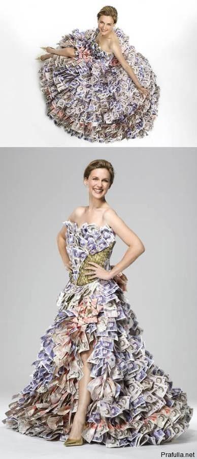 Money dress... real banknotes.