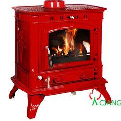 colorful enamel woodstoves   cast iron small cheap wood burning godin stove 18kw high efficiency ...