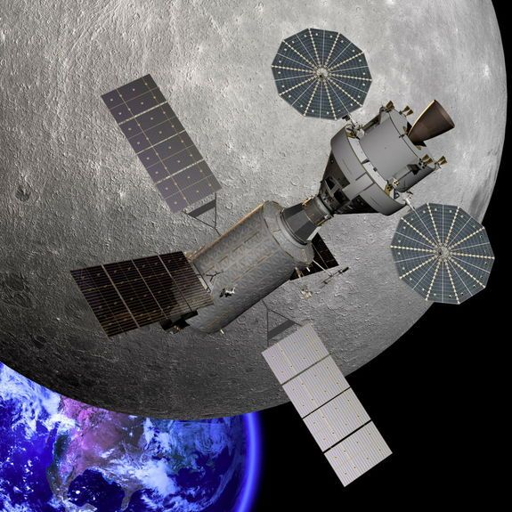 NASA Funds 12 Deep-Space Exploration Technologies || This artist's illustration shows NASA's Orion capsule near the far side of the moon.