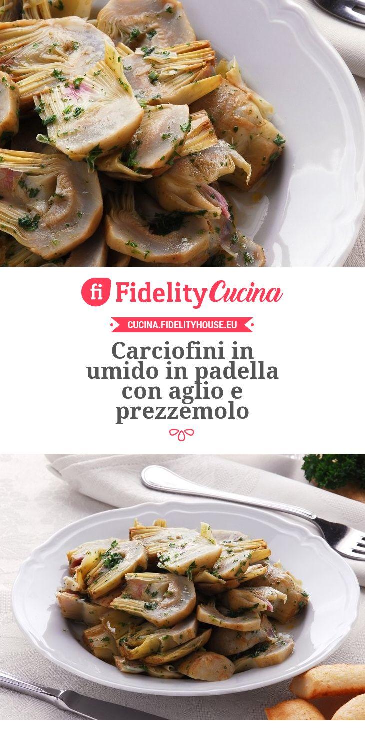 Carciofini in umido in padella con aglio e prezzemolo