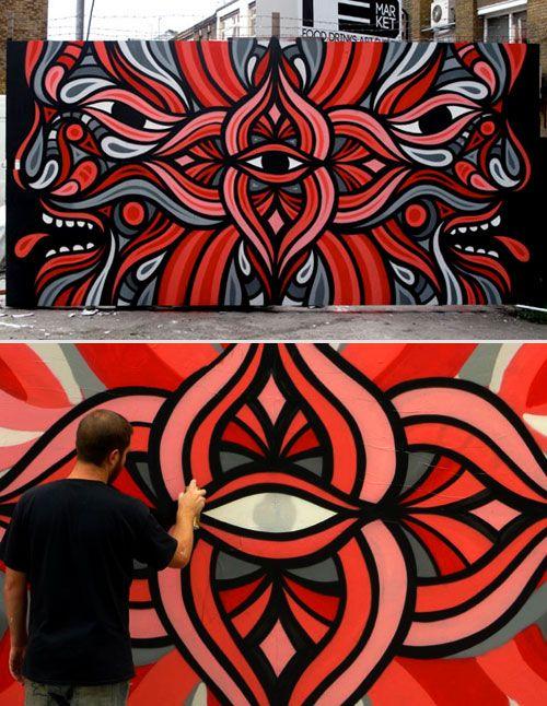 Beastman red market shoreditch london april 2011 for Graffitis y murales callejeros