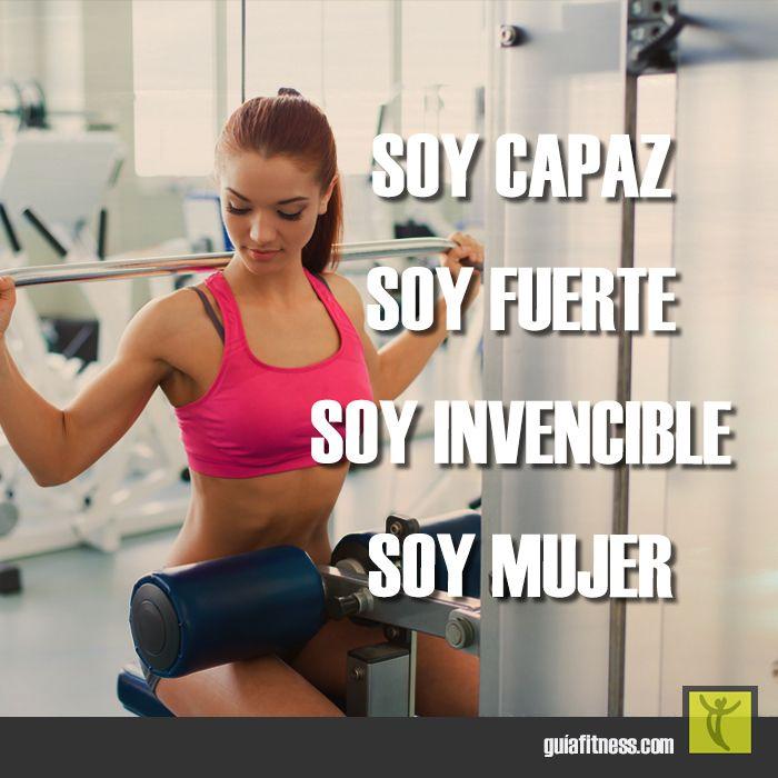 Soy capaz, fuerte e invencible. Soy #mujer. #motivación #frases #quotes…
