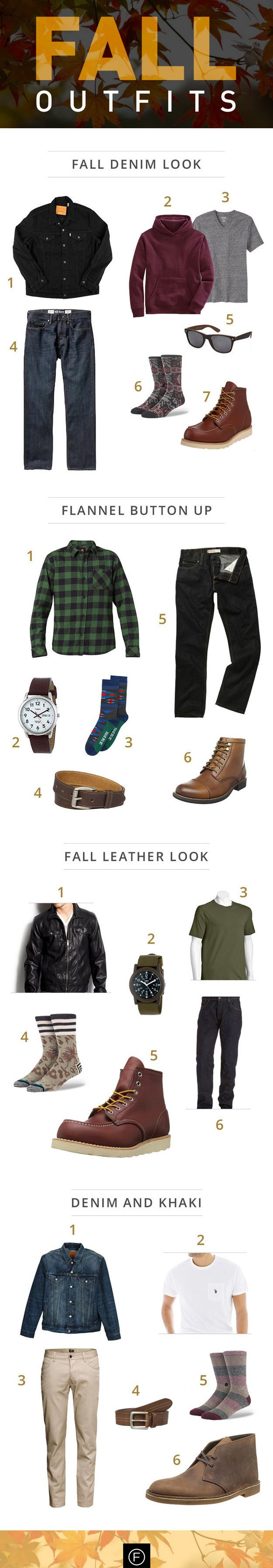 Here are some great outfit ideas for Fall. http://famousoutfits.com/blog/fall-2014-mens-style-guide/ #fallstyle #fallfashion #mensfashion