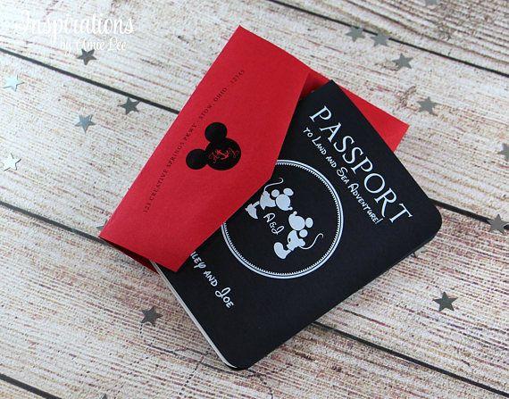 Passport Wedding Invitations Disney Invitations Disney