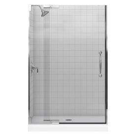 Kohler Finial 45.25-In To 47.75-In Frameless Pivot Shower Door 705728-