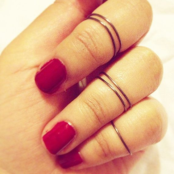 set of 5 knuckle rings, above the knuckle ring, mid-finger ring, jewelery, jewellery, rings, minimal rings, ring, black ring, minimal jewelery, minimalist, cool rings, summer, thin ring, cool ring, ring, fashion, style