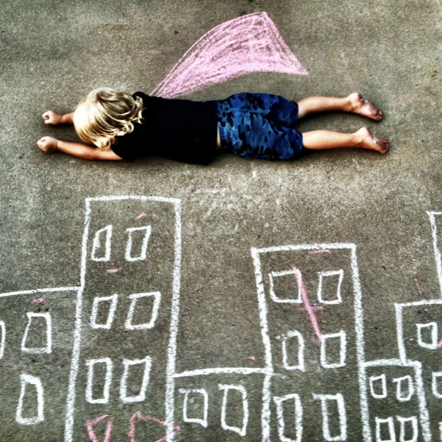 first day of school...if you had a superpower, it would be...write each student's in chalk