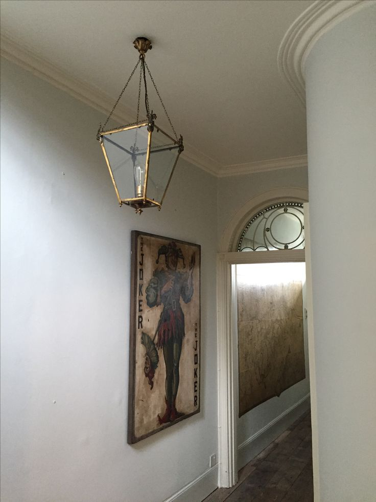 The Tatham hanging lantern beautifully installed and adding elegance to the hall of an C18th London townhouse.