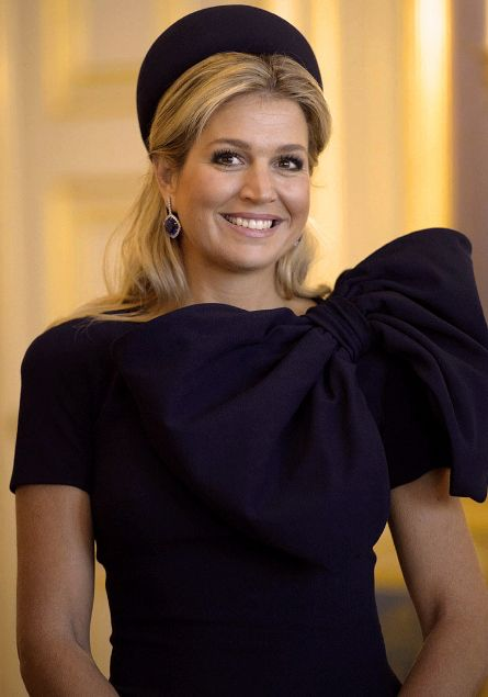 Queen Maxima apriil 2014 in Classic Pillbox Style Hat