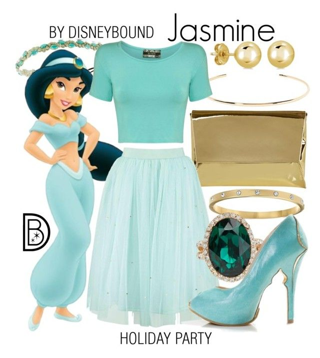 """Jasmine"" by leslieakay ❤ liked on Polyvore featuring Deepa Gurnani, BERRICLE, Kate Spade, Jennifer Fisher, Pilot, Coast, ALDO, disney, disneybound and disneycharacter"