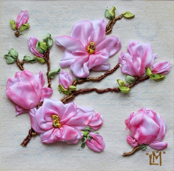 Home decor.Decorative Arts.Framed wall art.Wall Hanging.Decor and Housewares.Decorative textile. Fiber Art. 3d Ribbon Embroidery. Embroidered painting is original,creative and exclusive, which makes it a perfect gift for everybody and any occasion. Exact replica (embroidery and toning ribbons) of the sample is impossible. Each embroidered art work is eternally unique!