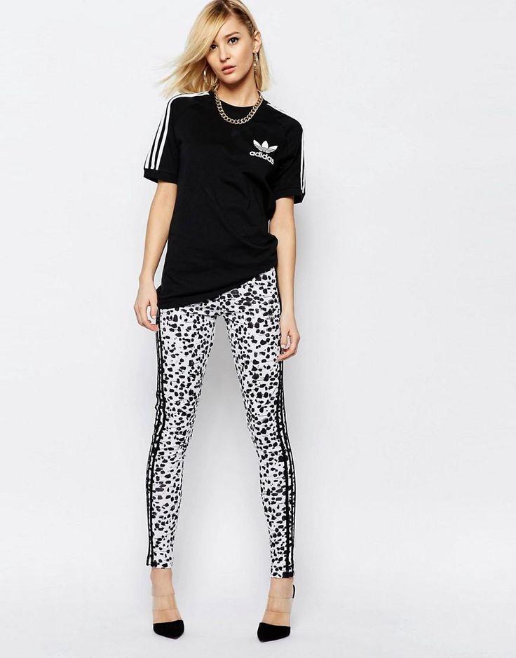 Adidas | adidas Originals Adicolour Boyfriend T-Shirt With 3 Stripe at ASOS