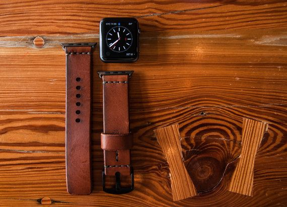 Apple Watch Band 38mm  Leather Apple Watch strap by 12DegreesWest