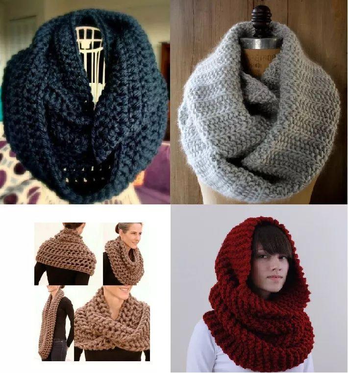 bufandas,cuellos, gorros tejidos a mano