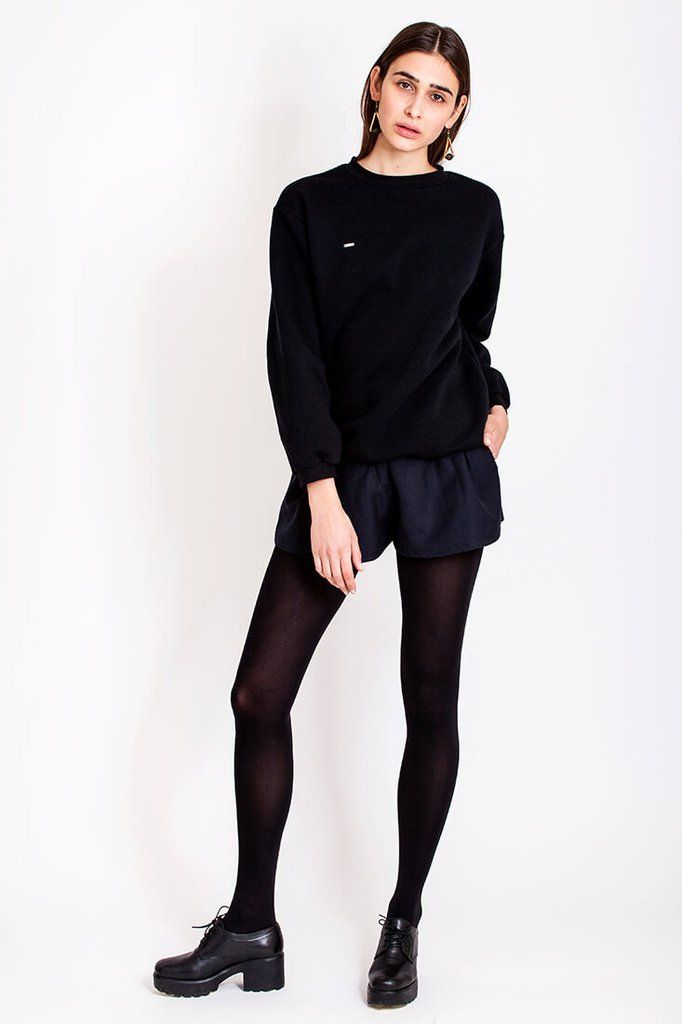 Black sweatshirt by Dott. Oh, those varm summer days! You know the feeling, the sun is so strong and its absolutely amazing. When the sun sets you feel the cool on your skin and you wish you had a warm sweater to take over your cold arms. The black sweater from Dott. fits perfect to your favorite jeans or shorts. It is so cosy that you just want to keep it on (until the sun rises again of course). It will be your everyday go-to sweater.   €70.00 REPIN TO YOUR OWN INSPIRATION BOARD