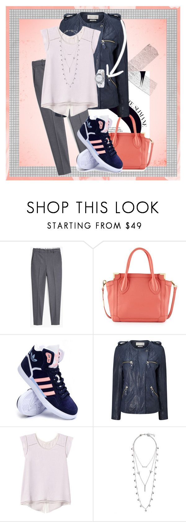 """""""out and about"""" by temptedeli on Polyvore featuring MANGO, Foley + Corinna, adidas, Étoile Isabel Marant, Rebecca Taylor, Lucky Brand, DKNY, women's clothing, women and female"""