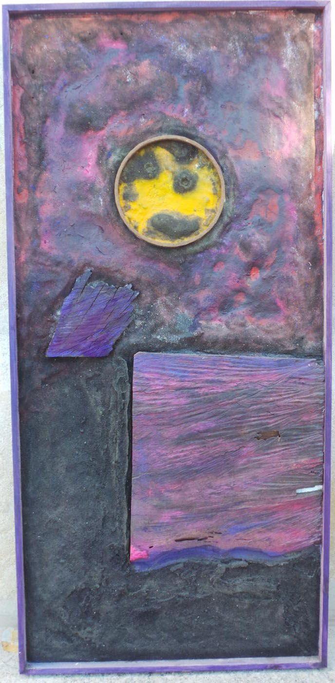 Arenas, pigmentos, madera y hierro sobre tabla. Autor: Frutos María.