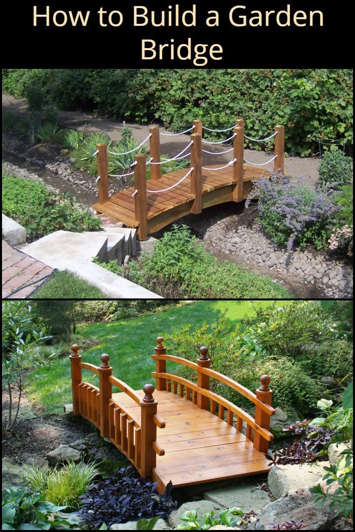 This Diy Garden Bridge Is Perfect If You Have A Body Of Water In