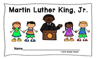 Martin Luther King Day Activities - Free Reader from Simply Kinder!