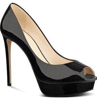 Nine West 'Edyln' Platform Peep Toe Pump (Women) #heels #peeptoe