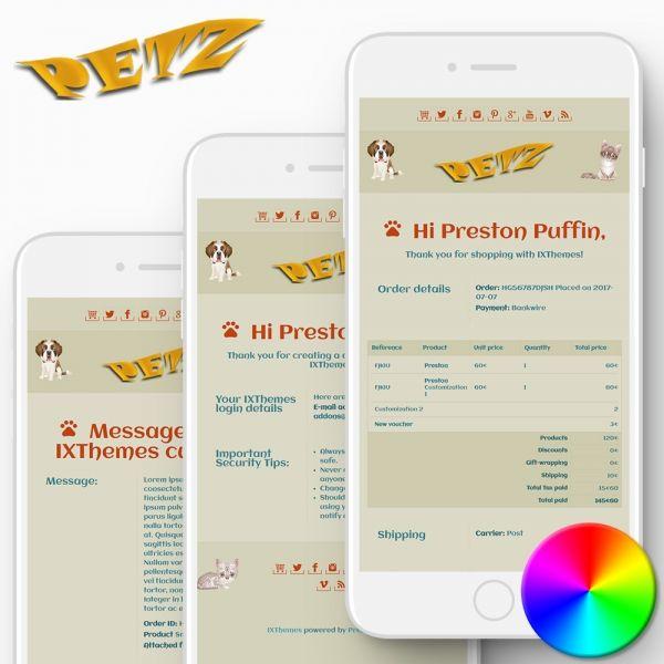 PETZ PrestaShop Email Templates
