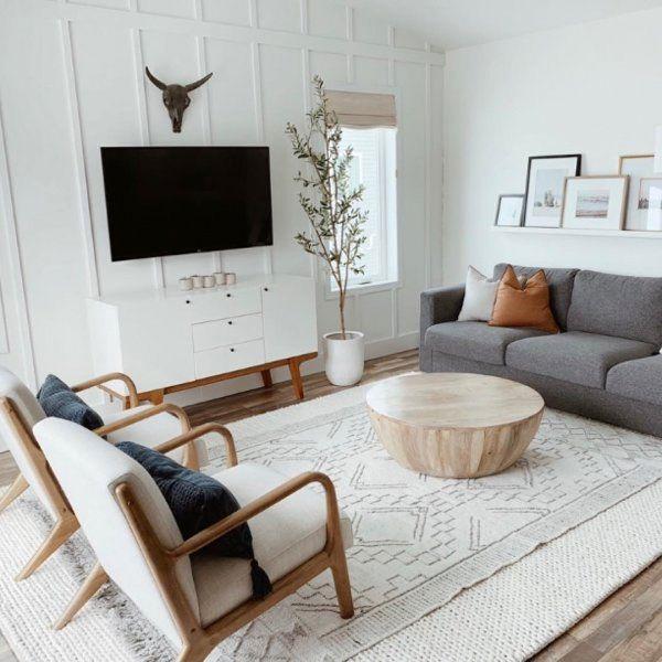 Modern Buffet In 2020 Living Room Scandinavian Farm House Living Room Minimalist Living Room