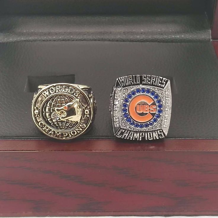 Bottom price The Newest MLB 1907/2016 Chicago Cubs National League Champions Ring Sets with Wooden Boxes