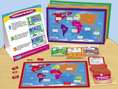 Continents & Oceans Instant Learning Center at Lakeshore Learning