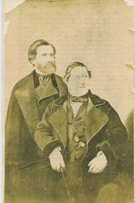 Giuseppe Verdi and Gioachino Rossini. Paris in 1860