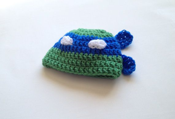 $15.00 - Baby boy Infant Teenage Mutant Ninja Turtle Leonardo crochet beanie hat, size 3-6 Months. Keep your little one's head warm with this cute Leonardo Teenage Mutant Ninja Turtle crochet hat! Perfect for photo shoots or everyday wear! If you don't see your size, ask the seller!