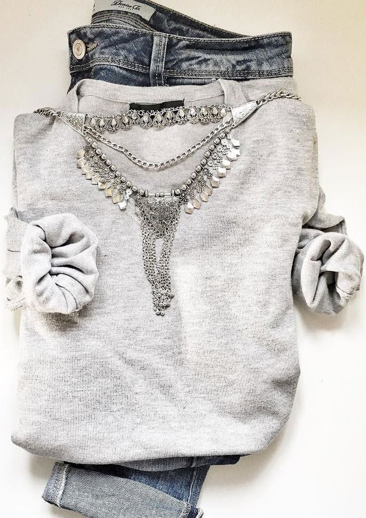 Silver Bib Statement Necklace #outfit #fashion #style #silvernecklace…