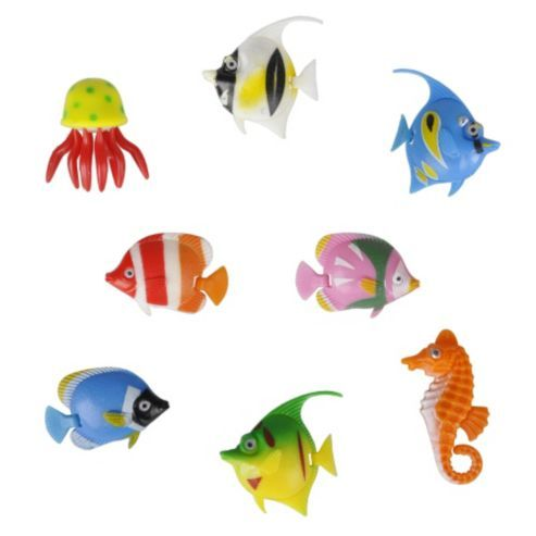 Buy Pack of Eight Colourful Artificial Tropical Fish from our Novelty Lighting range - Tesco.com