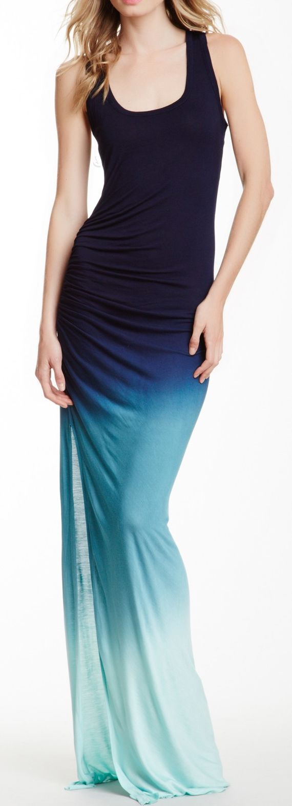 Ombre maxi dress //