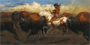 Pursuit of the Buffalo by Andy Thomas  kK