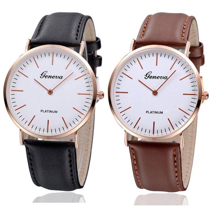 La montre tendance du moment!. Idée cadeau à retenir! Superbe montre, unique en son genre.    Un jolie montre qui sublimera vos poignets en un clin d'oeil!!!    La montre parfaite à offrir ou s'offrir! Disponible en noir et marron.    Emballage cadeau offert!