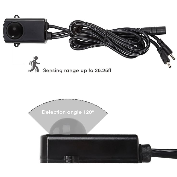6pcs Motion Activated LED Under Cabinet Lighting Kit, Extendable Under Counter LED Light Bar 3000K