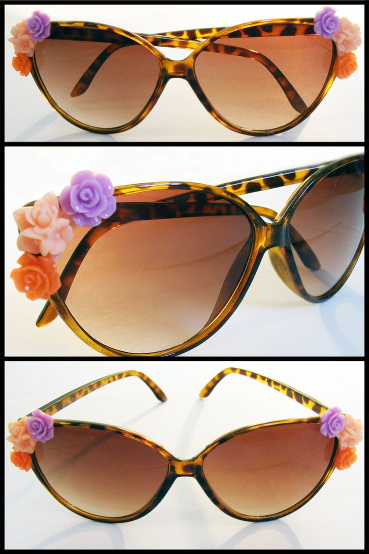Florence: Make a statement this summer with these retro-inspired floral sunglasses.