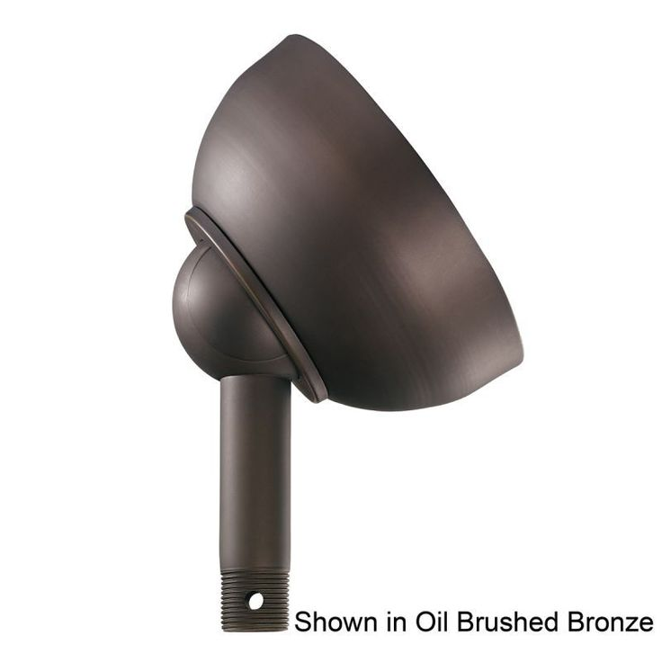 "Kichler 337005 Basics 6"" Diameter Sloped Ceiling Adapter Brushed Nickel Fan Accessories Sloped Ceiling Adapters Sloped Ceiling Adapters"