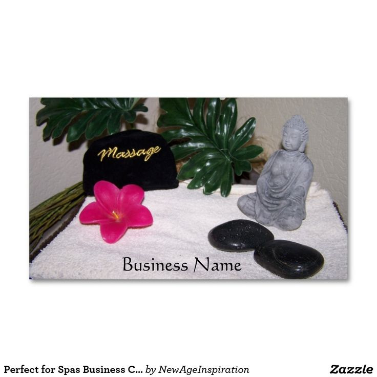 Perfect for Spas Business Cards