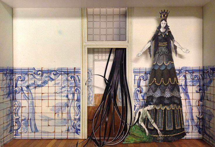 Monolocale 7 ( Lisbon story), 2014, acrilico e acquerello su carta, cm 35x50