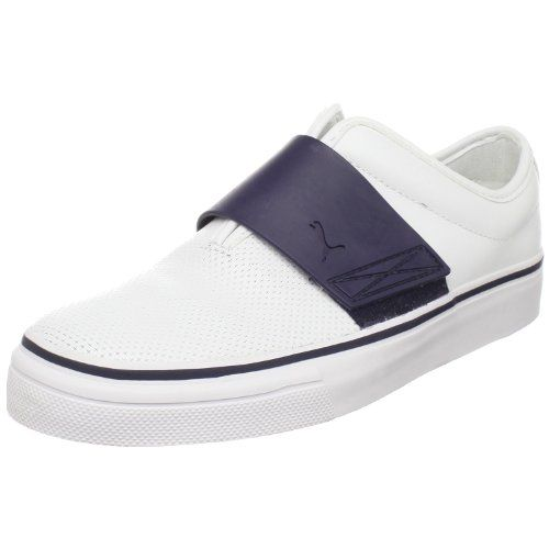 PUMA Men's EL Rey Cross Perf Leather Slip-On Sneaker,Whit...