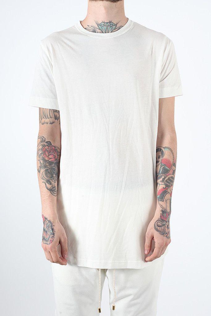 Basic Zip T-Shirt - White