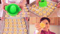 I biscotti all'arancia sono dei dolcetti alla crema ottimi per il tè o la colazione. Ricetta facile per preparare i biscotti in pochi